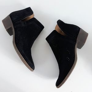 Lucky Brand Black Baley Preforated Ankle Boots